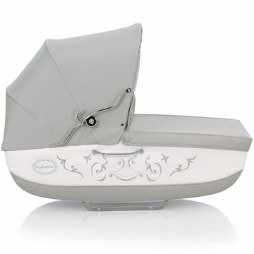 Inglesina Classica Bassinet with Diaper Bag in Gray/White