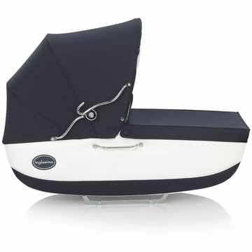 Inglesina Classica Bassinet with Diaper Bag in Navy/White