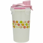 Innobaby Keepin' Fresh Stainless Steel 12oz Travel Cup - Pink/Fish