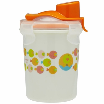 Innobaby Keepin' Fresh Stainless Steel 8oz Travel Cup - Orange/Fish