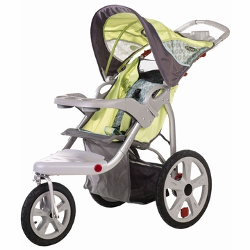 InSTEP Safari Swivel Jogging Stroller-Single  Green/Gray