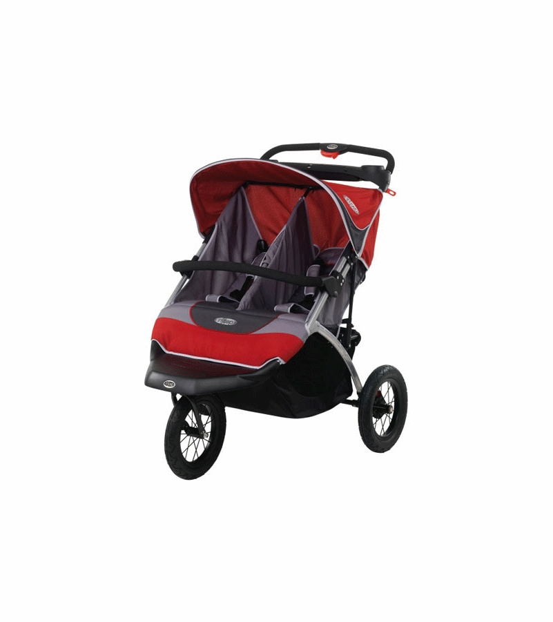 InSTEP Suburban Safari 2008 Double Jogging Stroller Red and Grey
