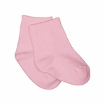 iPlay Organic Solid Socks - Rose - Newborn