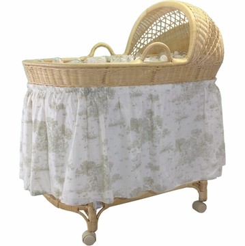 J Mason Wicker Bassinet - Natural