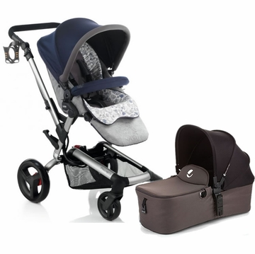 Jane Rider Stroller & Micro Bassinet - Blue Moon