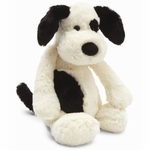 Jellycat Bashful Cream and Black Puppy, Large