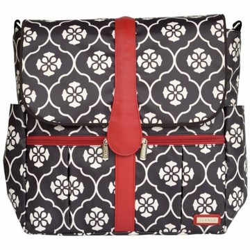 JJ Cole Backpack Diaper Bag - Black Floret