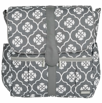 JJ Cole Backpack Diaper Bag - Gray Floret