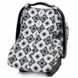 JJ Cole Car Seat Canopy - Black Magnolia