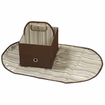 JJ Cole Diapers & Wipes Caddy - Cocoa Stripe