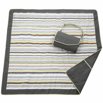 JJ Cole Essentials Blanket - Grey/Green