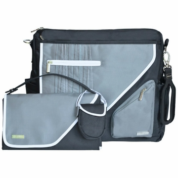 JJ Cole Metra Diaper Bag - Black Stitch
