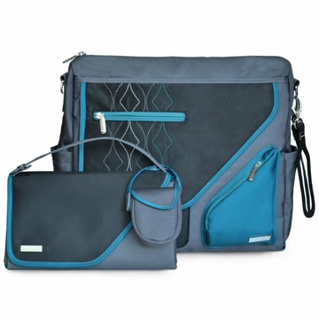 JJ Cole Metra Diaper Bag - Blue Diamonds