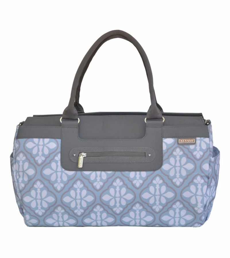 jj cole parker diaper bag blue iris. Black Bedroom Furniture Sets. Home Design Ideas