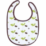 JJ Cole Soft Bib Green Birds