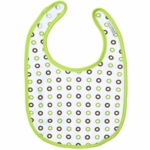 JJ Cole Soft Bib Green Circles