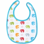 JJ Cole Soft Bib Primary Elephants
