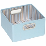 "JJ Cole Storage Box 6.5"" - Blue Stripe"