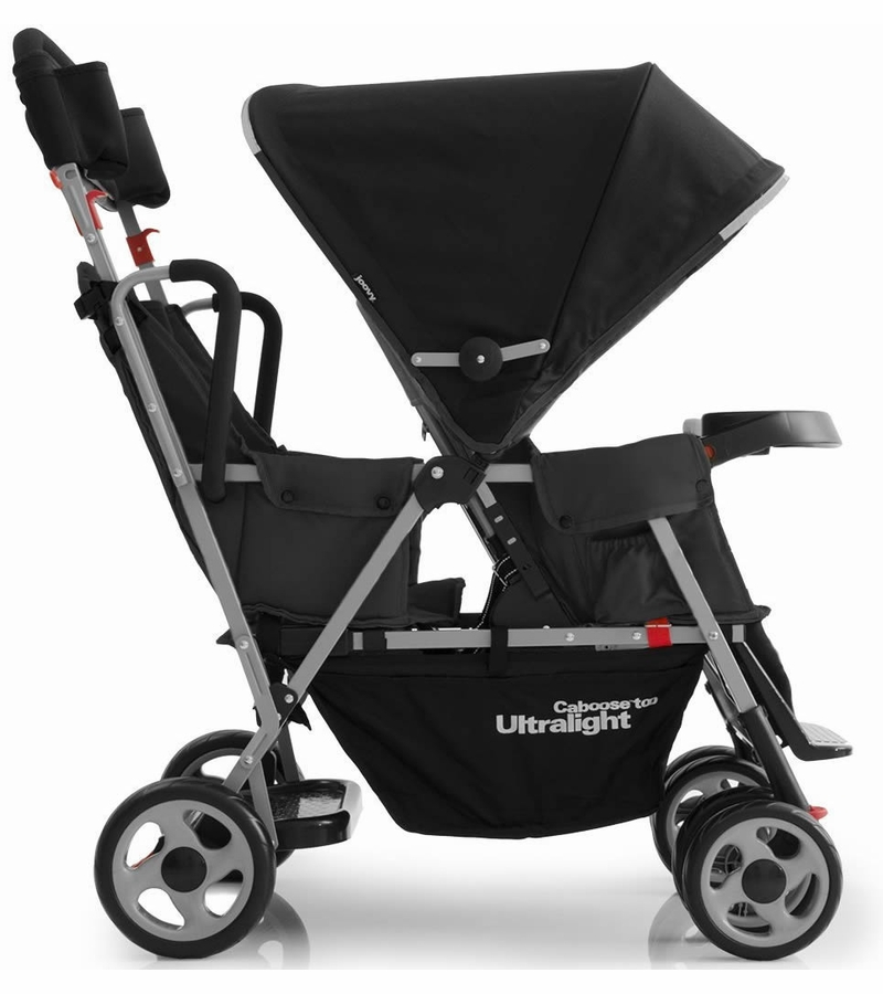 Joovy Caboose Too Ultralight Stand On Tandem Stroller In Black