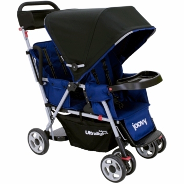 Joovy Caboose Too Ultralight Stand-On Tandem Stroller in Blueberry