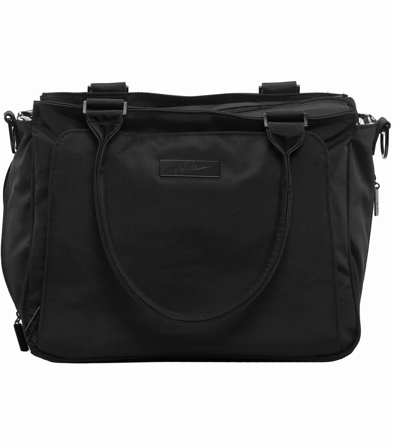 ju ju be be classy tote diaper bag black out. Black Bedroom Furniture Sets. Home Design Ideas