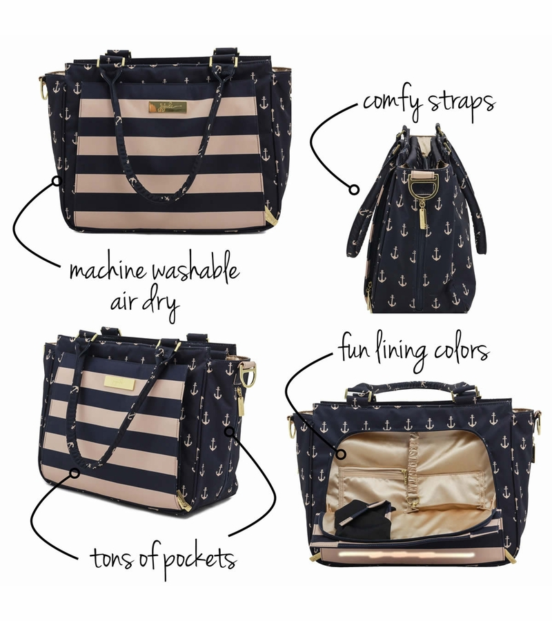 ju ju be be classy tote diaper bag the commodore. Black Bedroom Furniture Sets. Home Design Ideas
