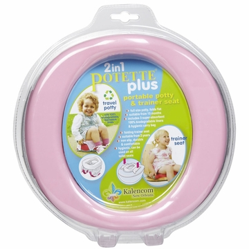 Kalencom Potette Plus 2 in 1 On The Go Potty in Pink