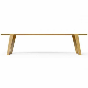 Kalon Studios Isometric White Oak Bench - Large