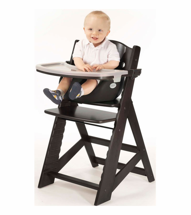 Keekaroo Height Right High Chair & Infant Insert - Espresso / Black