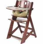 Keekaroo Height Right High Chair & Infant Insert - Mahogany/Latte