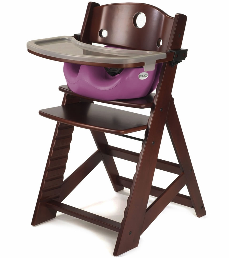 Keekaroo Height Right High Chair & Infant Insert - Mahogany ...