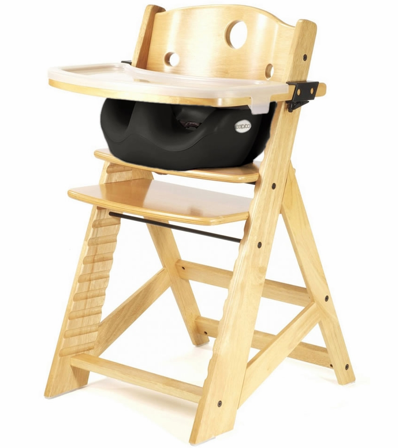 Keekaroo Height Right High Chair & Infant Insert - Natural / Black