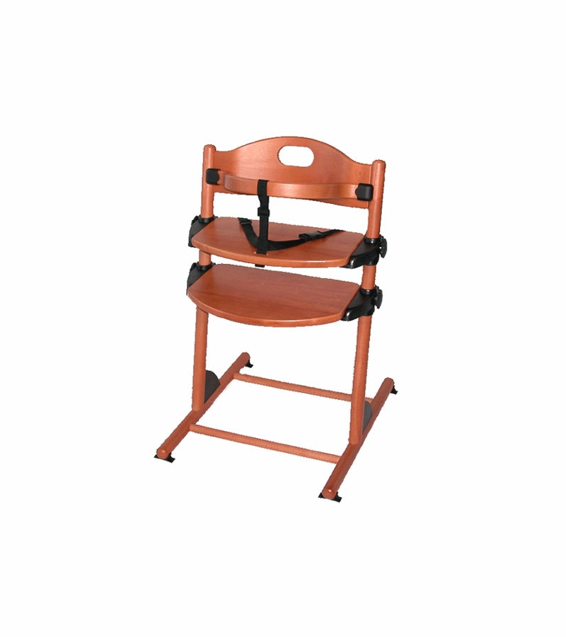 Kettler Junior High Chair In Mahogony Finish