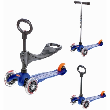 Kickboard USA Mini Micro 3 in 1 Scooter in Blue