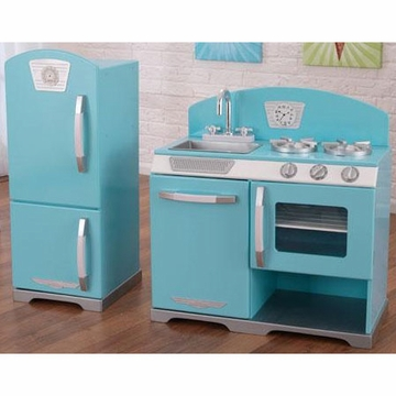 KidKraft Blue Retro Kitchen & Refrigerator