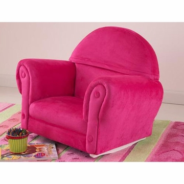 KidKraft Bubblegum Velour Rocker with Slip Cover