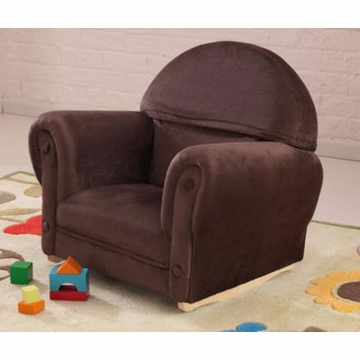 KidKraft Chocolate Velour Rocker with Slip Cover