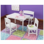 KidKraft Nantucket Table with Bench & Two Chairs