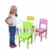 KidKraft Nantucket White Table and Four Pastel Chairs