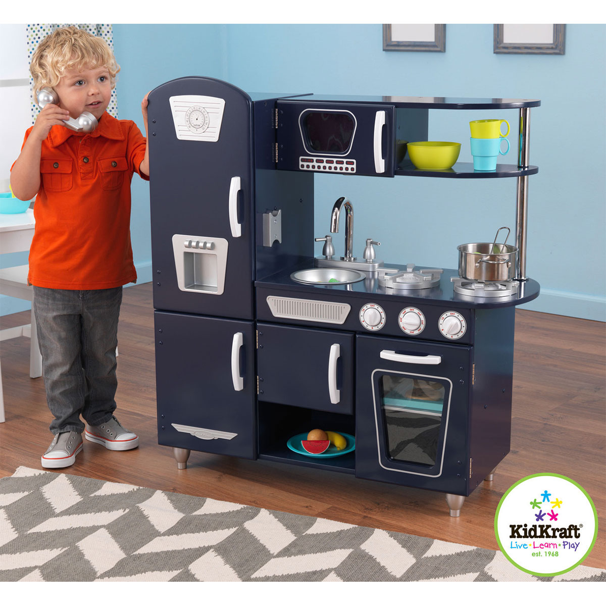 Vintage Kitchen By Kidkraft: KidKraft Navy Vintage Kitchen