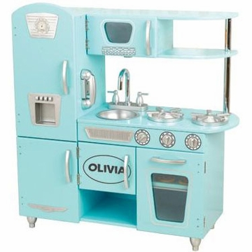 KidKraft Personalized Blue Vintage Kitchen