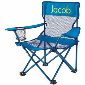 KidKraft Personalized Camping Chair in Blue
