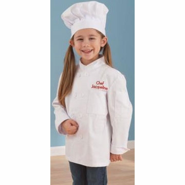 KidKraft Personalized Chef Jacket & Hat - Medium