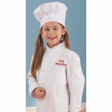 KidKraft Personalized Chef Jacket & Hat - Small
