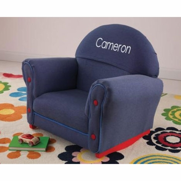 KidKraft Personalized Denim Rocker with Slip Cover