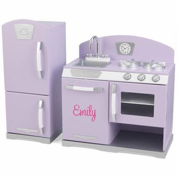 KidKraft Personalized Lavender Retro Kitchen & Refrigerator