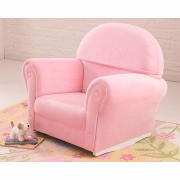 KidKraft Pink Velour Rocker with Slip Cover
