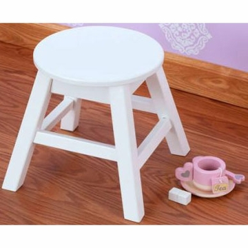 KidKraft Round Stool in White