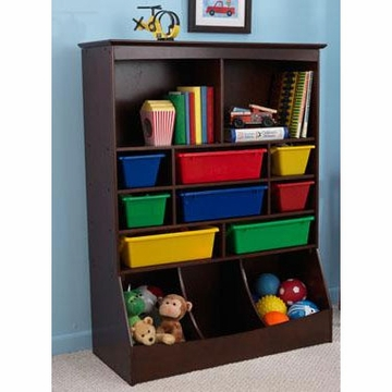 KidKraft Wall Storage Unit in Espresso