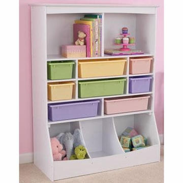 KidKraft Wall Storage Unit in White
